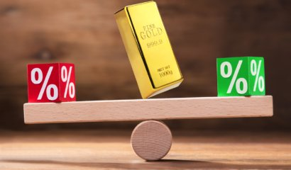 What happens to gold prices when interest rates go up?