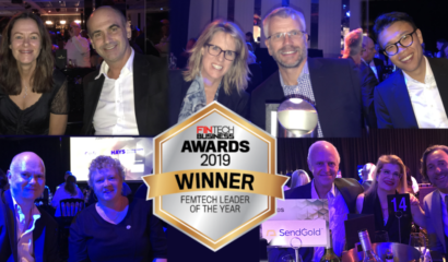 SendGold CEO wins Femtech Leader of the Year from Fintech Business Awards 2019