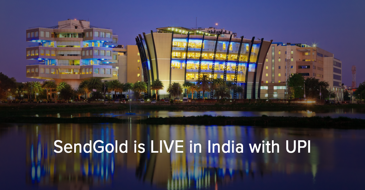 SendGold Live in India with UPI