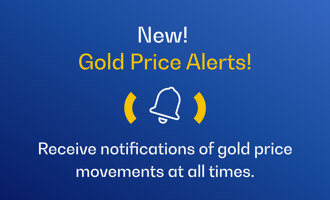 Stay in the know with our all-new Rush Gold price alerts!