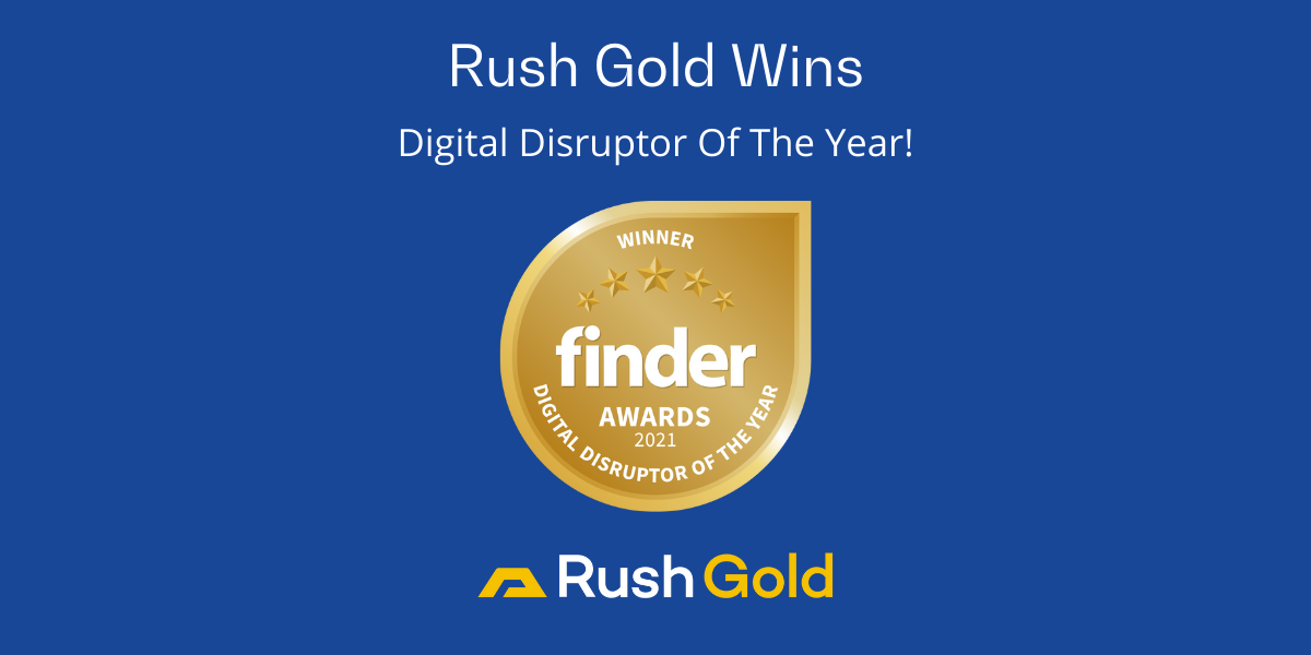 Rush Gold wins Digital Disruptor of the Year at the Finder Innovation Awards 2021