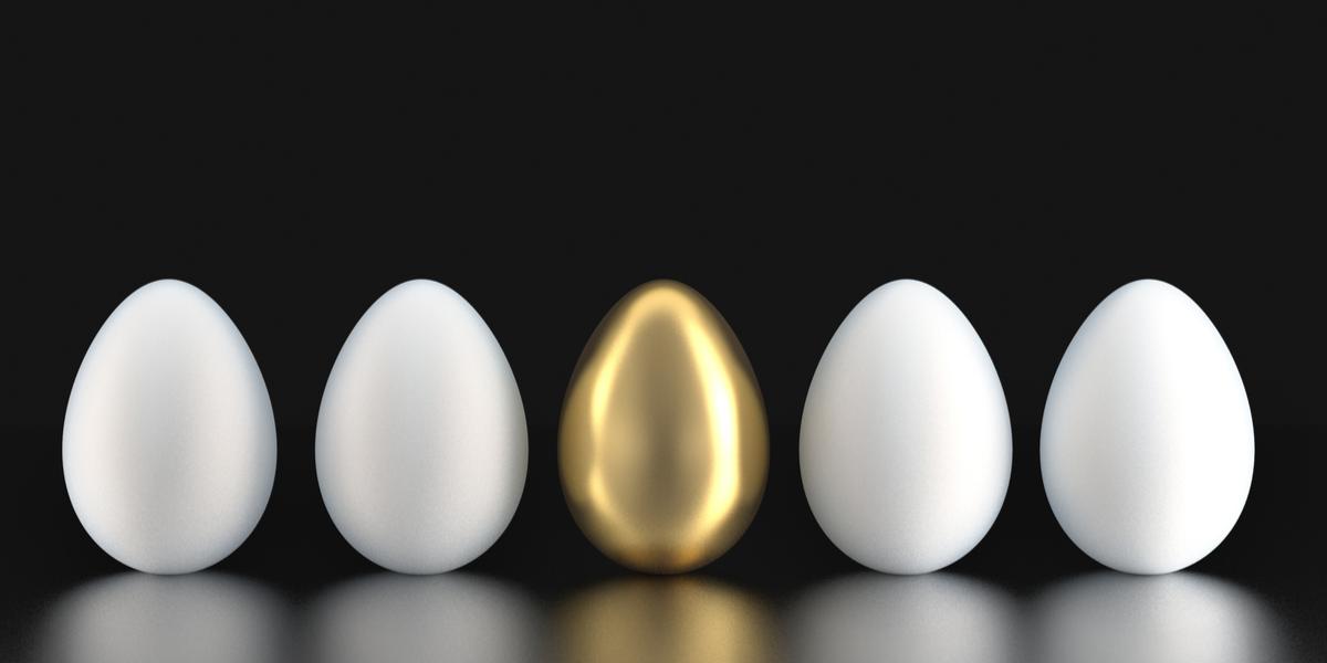 Gold—different egg, different basket.
